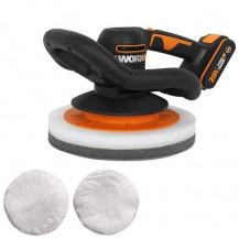 Worx Power Share WX856L Orbital Cordless Polisher - 20V, 2.0Ah Battery and Charger