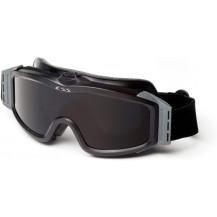 ESS Profile Asian Fit Turbo Fan Ballistic Goggles - Black Frame, Smoke Grey Lens