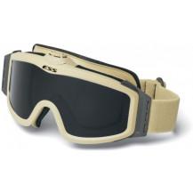 ESS Profile Turbo Fan Ballistic Goggles - Desert Tan Frame, Smoke Grey Lens