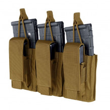 Condor Gen II Triple Kangaroo Mag Pouch - Coyote Brown - Magazines NOT included