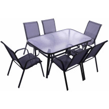 Seagull 7-Piece Steel Patio Set
