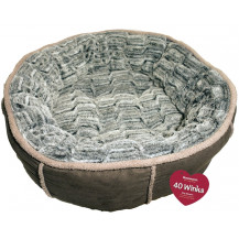 Rosewood 40 Winks Deep Plush Donut Pet Bed - Medium, Grey