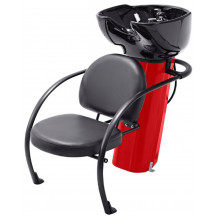 Ace Backwash Chair with Adjustable Backrest - Red