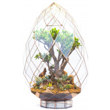 AE Geometric Terrarium Briolette - Large, Copper