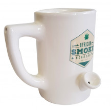 African Smoke Wake n Bake Mug - White