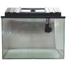 Aquarium Tank With Canopy & LED Light - 610x305mm, 57L
