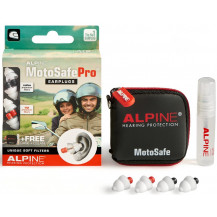 Alpine MotoSafe Pro Earplugs with Carry Case + Cleaner