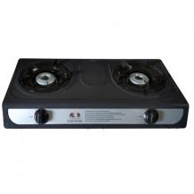 Alva Gas Stove - 2 Burner, Black