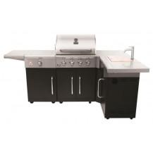 Alva Grand Outdoor BBQ with Side Burner and Sink - 4 Burner