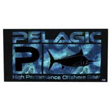 Pelagic Logo Towel -  Belize Aqua