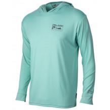 Pelagic Aquatek Deluxe Hoodie Fishing Shirt - Turquoise