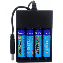 Kentli 2800mWh Rechargeable Batteries With USB Charger