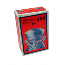Marksman Rounded Air Rifle Pellets - Cal .177 / 4.5mm, 500 pieces