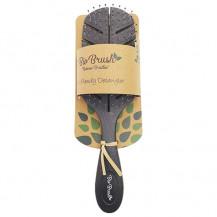 Bio Brush Eco Friendly Detangler Brush - Leaf Shape, Black