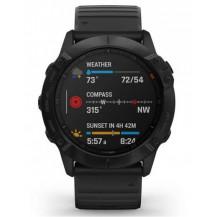 Garmin Fenix 6X Pro Multisport GPS Watch - Black/Black - Front View