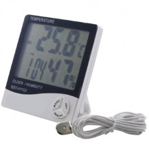 Large Display Temperature & Humidity Meter