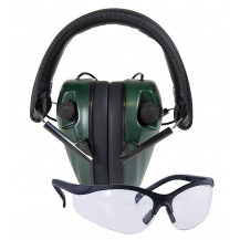Caldwell E-Max Low Profile Ear Muffs and Glasses Combo
