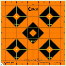 Caldwell Orange Peel Sight-In Target - 12 Inches, 12 Pack