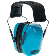 Caldwell Youth Passive Earmuff - Neon Blue Side View