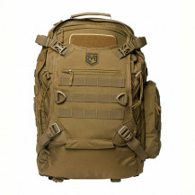 Cannae Pro Gear Phalanx Full Size Duty Pack With Helmet Carry - Coyote - Front View