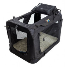 Cosmic Pets Collapsible Pet Carrier - Medium, Black - Not true size of the product.