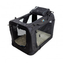 Cosmic Pets Collapsible Pet Carrier - Small - Black