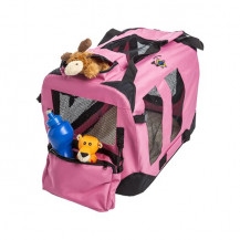 Cosmic Pets Collapsible Pet Carrier - Small - Pink (Toys NOT Included)
