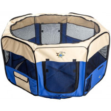 Cosmic Pets Collapsible Pet Pen - XLarge - Blue