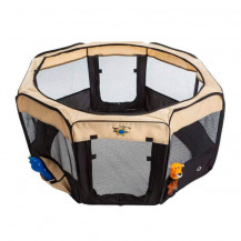 Cosmic Pets Collapsible Pet Pen - XLarge - Black