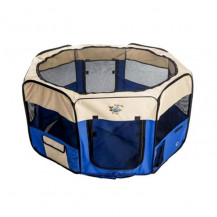 Cosmic Pets Collapsible Pet Pen - Medium - Blue