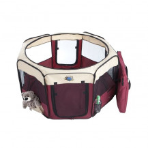 Cosmic Pets Collapsible Pet Pen - Medium - Maroon