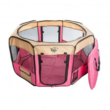 Cosmic Pets Collapsible Pet Pen - Medium - Pink