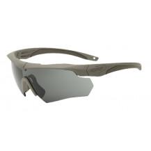 ESS Crossbow One Ballistic Glasses - Terrain Tan Frame, Smoke Grey Lens