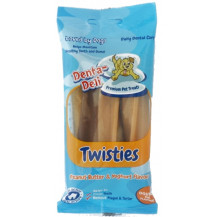 Denta-Deli Twisties Peanut Butter & Yoghurt Dog Treats - Pack of 4