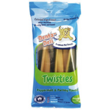 Denta-Deli Twisties Peppermint & Parsley Dog Treats - Pack of 4