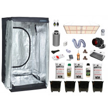 Deluxe Grow Tent Combo - 120 x 120 cm, 450W LED Board, Just Cannabis & Cannabiz