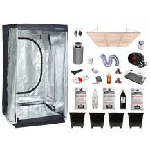 Deluxe Grow Tent Combo - 120 x 120 cm, 600W LED Board, Just Cannabis