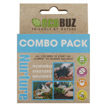 EcoBuz 3 in 1 Nutritional Support Starter Combo Pack - 3 Doses, 6 Pack