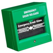 Hikvision DS-K7PEB Emergency Break Glass - Green