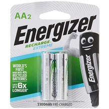 Energizer Recharge Extreme NH15BP2 NiMH AA Batteries - Pack of 2, 2300mAh
