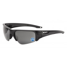 ESS Crowbar Ballistic Sunglasses - Black Frame, Polarized Mirrored Grey Lenses