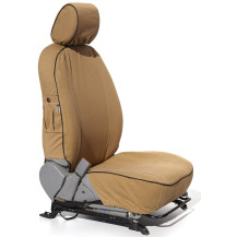 Escape Gear Seat Covers Everest XLS/XTL (11/2015 - Present) - 2 Fronts With Airbags - Driver Lumber Support, 60/40 Bench With Armrest, 2 Jumps.