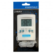 Essentials Digital 2-Way Thermometer/Min Max Meter