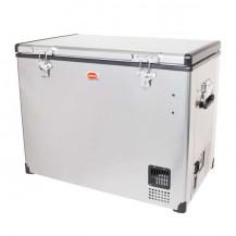 SnoMaster Stainless Steel Portable Fridge/Freezer - 95L, AC/DC