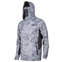 Pelagic Exo-Tech Hooded Fishing Shirt -  Camo, Light Grey, Large