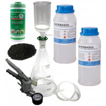 Extraction Kit Combo 2 - Vacuum Filtration Kit 2L + x2 Herbasol 1L + Activated Carbon 450g + Diatomaceous Earth 250g