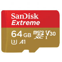 SanDisk Extreme MicroSD Memory Card (100MB/s) - 64GB