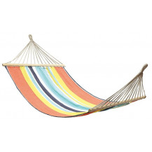 Oztrail Anywhere Hammock with Timber Rails - Double, Multi-Coloured