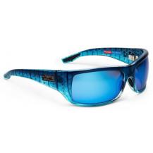 Pelagic Fish Hook Polarized Mineral Sunglasses - Blue Helix, Blue Mirror