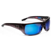 Pelagic Fish Hook Polarized Mineral Sunglasses - Silver Helix, Blue Glass